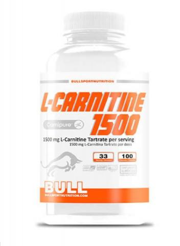 BULL CARNITINA CARNIPURE 1500 - 100 CAPSULAS