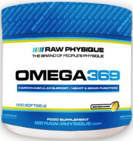 RAW OMEGA 3 - 6 - 9   200 SOFTGELS