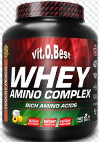 VIT.O.BEST WHEY AMINO 1.8 KGS FRESA PLAT+ WHEY 1LB