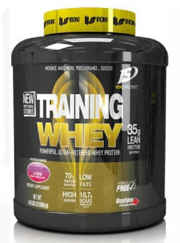 IRON SUPPLEMENTS TRAINING WHEY 2 KGS CHOCO COOKIES
