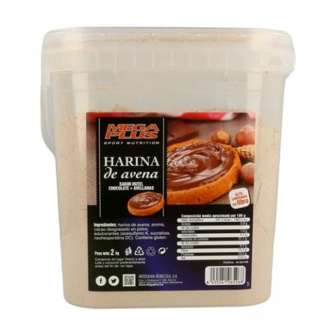 MEGAPLUS HARINA DE AVENA 2 KGS CHOCOLATE BLANCO